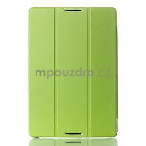 Troj-polohové pouzdro na table Lenovo IdeaTabl A10-70 - zelené - 1