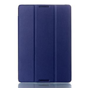 Troj-polohové pouzdro na table Lenovo IdeaTabl A10-70 - tmavě modré - 1