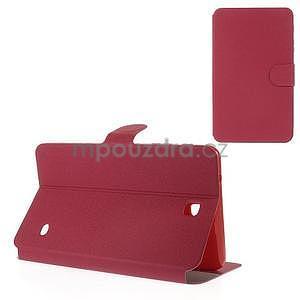 PU kožené peněženkové pouzdro pro tablet Samsung Galaxy Tab 4 8.0 - magenta - 1