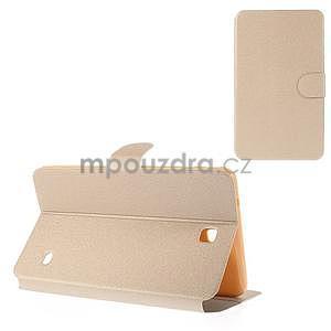 PU kožené peněženkové pouzdro pro tablet Samsung Galaxy Tab 4 8.0 - champagne - 1