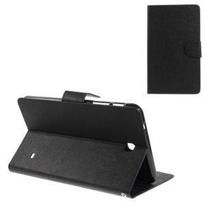 Černé peněženkové pouzdro Goospery na tablet Samsung Galaxy Tab 4 8.0 - 1