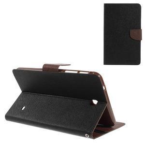 Černé/hnědé peněženkové pouzdro Goospery na tablet Samsung Galaxy Tab 4 8.0 - 1