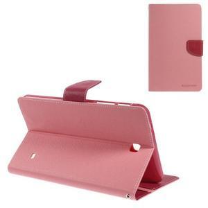 Růžové peněženkové pouzdro Goospery na tablet Samsung Galaxy Tab 4 8.0 - 1