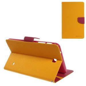Žluté peněženkové pouzdro Goospery na tablet Samsung Galaxy Tab 4 8.0 - 1