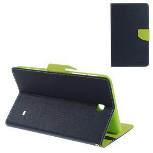 Modré peněženkové pouzdro Goospery na tablet Samsung Galaxy Tab 4 8.0 - 1