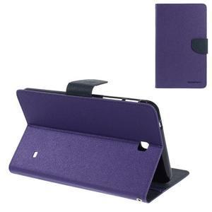Fialové peněženkové pouzdro Goospery na tablet Samsung Galaxy Tab 4 8.0 - 1