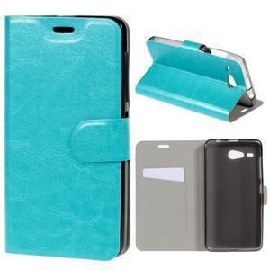 Horse peněženkové pouzdro na Acer Liquid Z520 - modré - 1