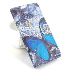 Lux peněženkové pouzdro na mobil Acer Liquid Z520 - modrý motýl - 1