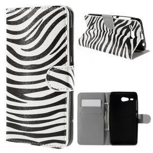 Nice koženkové pouzdro na mobil Acer Liquid Z520 - zebra - 1