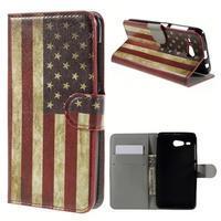 Nice koženkové pouzdro na mobil Acer Liquid Z520 - US vlajka - 1/7