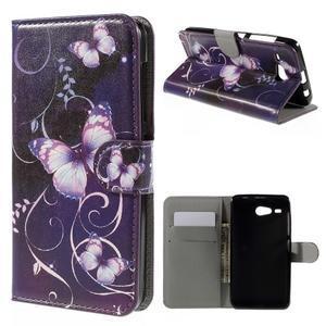 Nice koženkové pouzdro na mobil Acer Liquid Z520 - kouzelní motýlci - 1