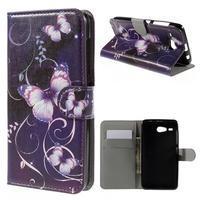 Nice koženkové pouzdro na mobil Acer Liquid Z520 - kouzelní motýlci - 1/7