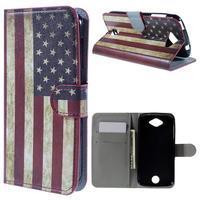 Valet peněženkové pouzdro na Acer Liquid Z530 - US vlajka - 1/7