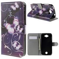 Valet peněženkové pouzdro na Acer Liquid Z530 - fialový motýl - 1/7