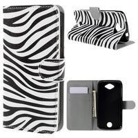 Valet peněženkové pouzdro na Acer Liquid Z530 - zebra - 1/7