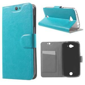 Horse peněženkové pouzdro na mobil Acer Liquid Z530 - modré - 1