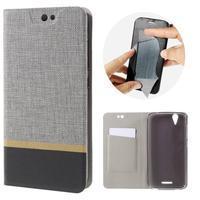 Klopové pouzdro na mobil Acer Liquid Z630 - šedé - 1/7