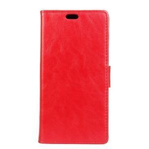 Leat PU kožené pouzdro na mobil Acer Liquid Z630 - červené - 1