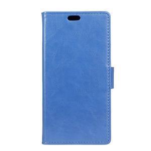 Leat PU kožené pouzdro na mobil Acer Liquid Z630 - modré - 1
