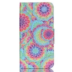Peněženkové pouzdro na mobil Acer Liquid Z630 - barevné květy - 1