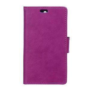 Leat PU kožené pouzdro na mobil Acer Liquid Z630 - fialové - 1
