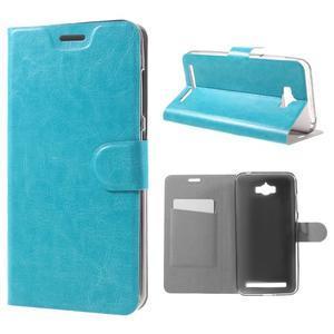 Horse peněženkové pouzdro na Asus Zenfone Max - modré - 1