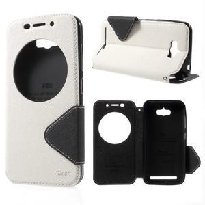 Diary peněženkové pouzdro s okýnkem na Asus Zenfone Max - bílé - 1