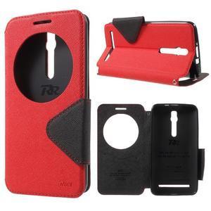 Diary peněženkové pouzdro s okýnkem na Asus Zenfone Max - červené - 1