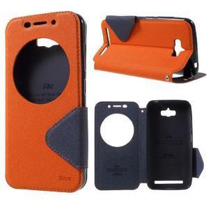 Diary peněženkové pouzdro s okýnkem na Asus Zenfone Max - oranžové - 1