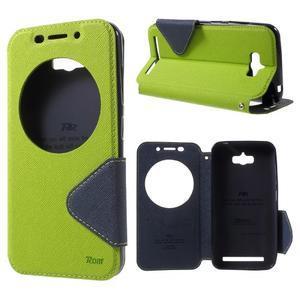 Diary peněženkové pouzdro s okýnkem na Asus Zenfone Max - zelené - 1