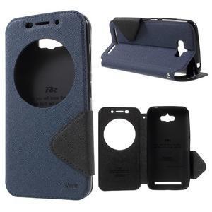 Diary peněženkové pouzdro s okýnkem na Asus Zenfone Max - tmavěmodré - 1