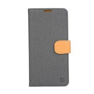 PU kožené pouzdro na Asus Zenfone Zoom - šedé - 1