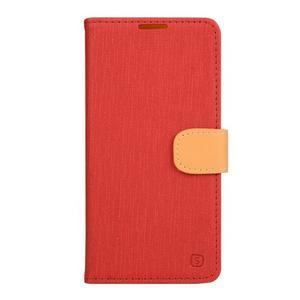 PU kožené pouzdro na Asus Zenfone Zoom - červené - 1