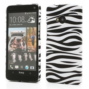 Plastový kryt na HTC One M7 - zebra - 1