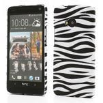 Plastový kryt na HTC One M7 - zebra - 1/4