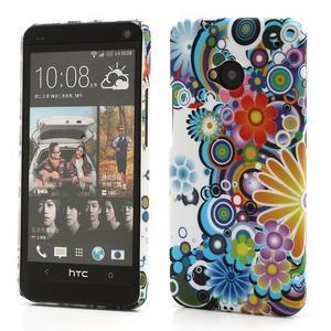 Plastový kryt na HTC One M7 - květy - 1