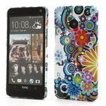 Plastový kryt na HTC One M7 - květy - 1/5