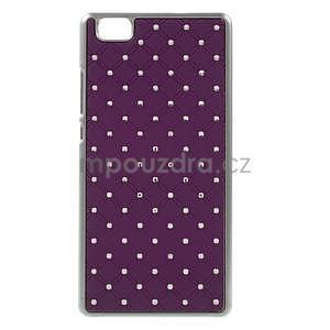 Drahokamový plastový obal na Huawei Ascend P8 Lite - fialový - 1