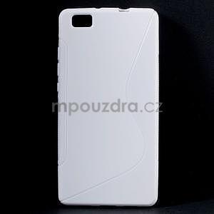 Bílý S-line gelový obal na Huawei Ascend P8 Lite - 1
