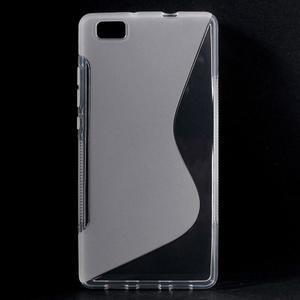 Transparentní S-line gelový obal na Huawei Ascend P8 Lite - 1