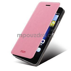 PU kožené pouzdro na Huawei P8 Lite - růžové - 1