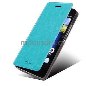PU kožené pouzdro na Huawei P8 Lite - modré - 1