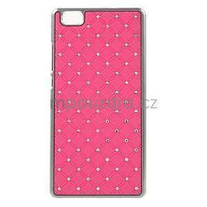 Drahokamový plastový obal na Huawei Ascend P8 Lite - růžový - 1