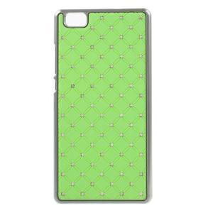 Drahokamový plastový obal na Huawei Ascend P8 Lite - zelený - 1