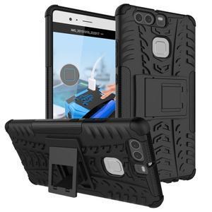 Outdoor ochranný kryt na mobil Huawei P9 - černé - 1