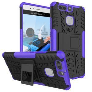 Outdoor ochranný kryt na mobil Huawei P9 - fialový - 1