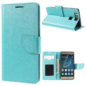 Crossy peněženkové pouzdro na Huawei P9 - modré - 1