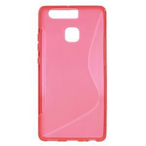 S-line gelový obal na mobil Huawei P9 - červený - 1