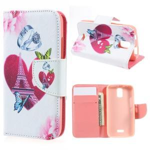 Peněženkové pouzdro na mobil Huawei Y3 a Y360 - srdce - 1