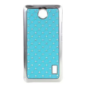 Drahokamový plastový kryt na Huawei Y635 - světle modrý - 1